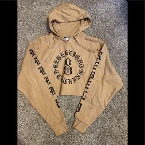 NWOT Rebel Eight crop hoodie Medium